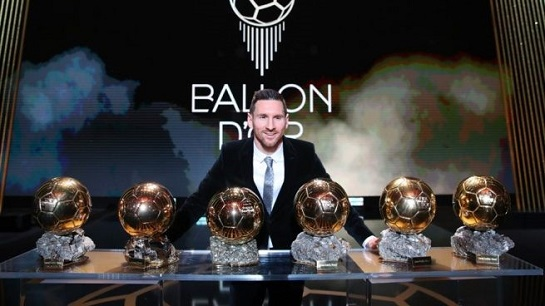 messi gana su 6to balon de oro